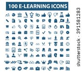learning icons  | Shutterstock .eps vector #391581283