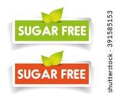 sugar free label vector set