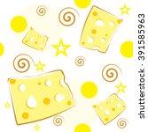 cheese seamless wallpaper   Shutterstock .eps vector #391585963