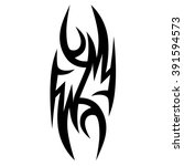 flame tattoo tribal sketch.... | Shutterstock .eps vector #391594573