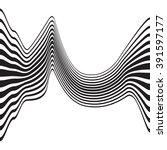 optical art opart striped wavy... | Shutterstock . vector #391597177