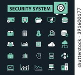 security system icons  | Shutterstock .eps vector #391600177