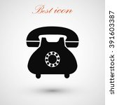 phone icon | Shutterstock .eps vector #391603387