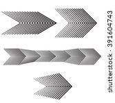 black and white arrow forward... | Shutterstock . vector #391604743