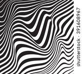 optical art background wave... | Shutterstock . vector #391608967