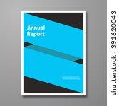 vector design leaflet brochure  ... | Shutterstock .eps vector #391620043
