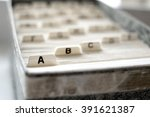 closeup of index cards for... | Shutterstock . vector #391621387