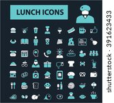 lunch icons  | Shutterstock .eps vector #391623433