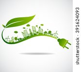 ecology concept. save world | Shutterstock .eps vector #391624093