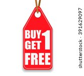 promotion tag buy 1 get 1 free | Shutterstock .eps vector #391629097