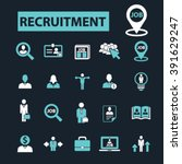 recruitment icons  | Shutterstock .eps vector #391629247