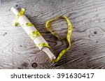 rolling pin and meter | Shutterstock . vector #391630417