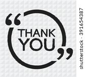thank you lettering... | Shutterstock .eps vector #391654387