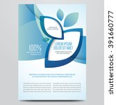 brochure  poster  magazine... | Shutterstock .eps vector #391660777