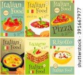 italian food menu card with... | Shutterstock .eps vector #391667977