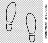 imprint soles shoes line vector ...