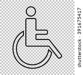 disabled line vector icon on... | Shutterstock .eps vector #391675417