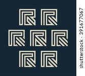 vector unusual letter r set.... | Shutterstock .eps vector #391677067