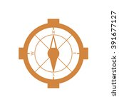 compass  icon   isolated. flat  ... | Shutterstock .eps vector #391677127