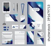 white identity template with...   Shutterstock .eps vector #391679713