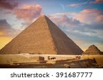 image of the great pyramids of... | Shutterstock . vector #391687777