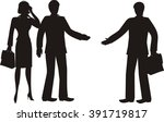 silhouettes of business people | Shutterstock . vector #391719817