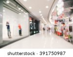 shopping mall abstract... | Shutterstock . vector #391750987