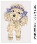 Cute Hipster Dog. Fashion...