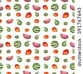 repeat pattern with watercolor... | Shutterstock . vector #391767643
