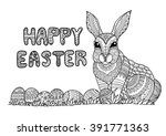 Doodle Typography Happy Easter...