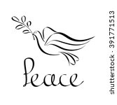 peace icon abstract. silhouette ... | Shutterstock .eps vector #391771513