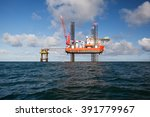 oil platform during the day | Shutterstock . vector #391779967