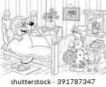 fairy tale. little red riding... | Shutterstock . vector #391787347