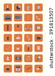 modern flat icons vector... | Shutterstock .eps vector #391813507