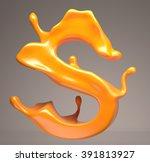 juicy letter 3d s | Shutterstock . vector #391813927
