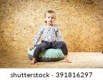 a three year old girl posing... | Shutterstock . vector #391816297