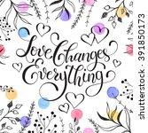 inspiring lettering  with... | Shutterstock .eps vector #391850173