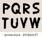 black handwritten alphabets  ...