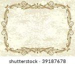 retro frame. | Shutterstock .eps vector #39187678
