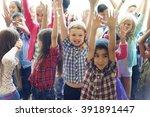 child companionship diversity...   Shutterstock . vector #391891447