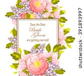 vintage delicate invitation... | Shutterstock . vector #391893997