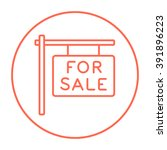for sale placard line icon. | Shutterstock .eps vector #391896223