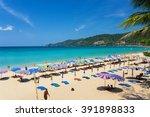 phuket patong beach february 29 ... | Shutterstock . vector #391898833