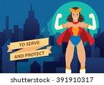 vector cartoon image of a woman ... | Shutterstock .eps vector #391910317