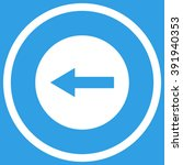 left rounded arrow vector icon. ... | Shutterstock .eps vector #391940353