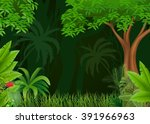 beautiful forest background | Shutterstock .eps vector #391966963