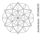 geometric mandala. coloring... | Shutterstock .eps vector #391968193