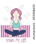 girl | Shutterstock .eps vector #392008633
