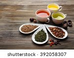 tea concept. different kinds of ... | Shutterstock . vector #392058307
