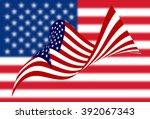 american flag | Shutterstock . vector #392067343
